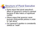 structure of plural executive6