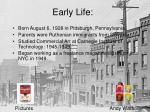 early life