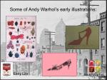 some of andy warhol s early illustrations