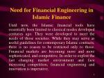 need for financial engineering in islamic finance