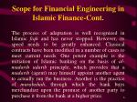 scope for financial engineering in islamic finance cont6