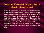 scope for financial engineering in islamic finance cont8