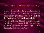 the doctrine of original permissibility