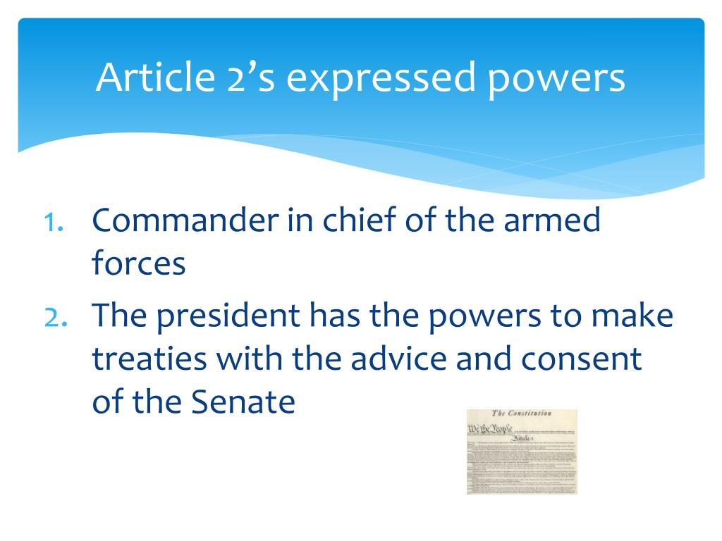 Article 2's expressed powers