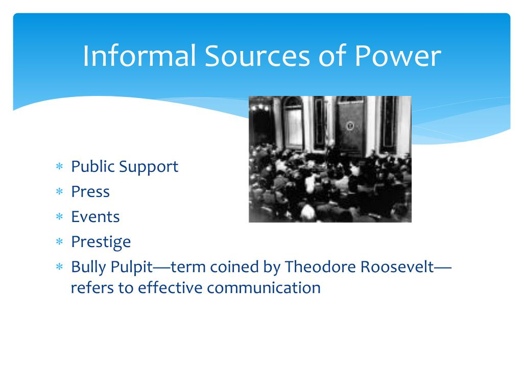 Informal Sources of Power