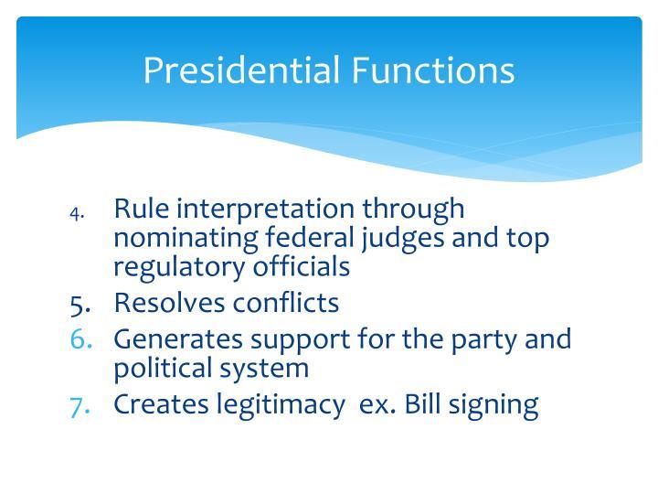 Presidential functions3