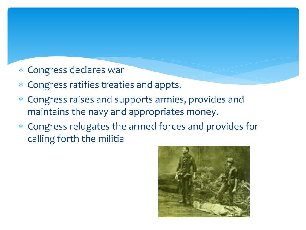 Congress declares war