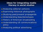 ideas for integrating media literacy in social studies