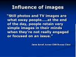 influence of images