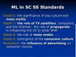 ml in sc ss standards