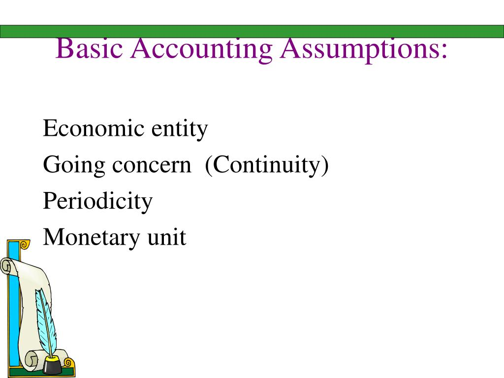 Basic Accounting Assumptions: