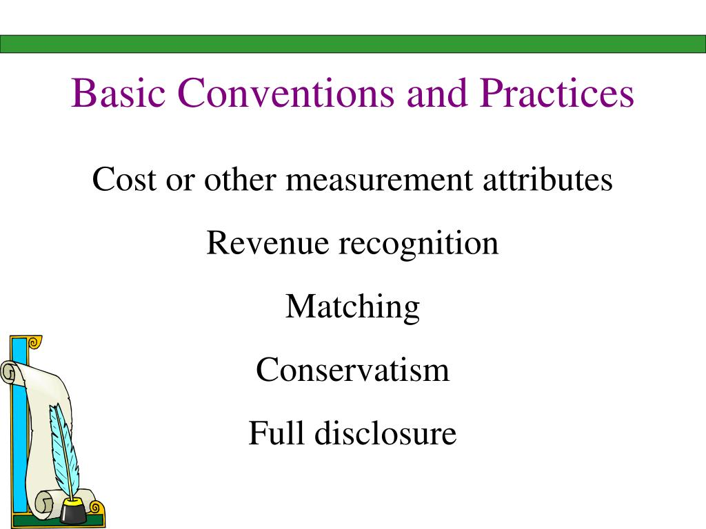 Basic Conventions and Practices