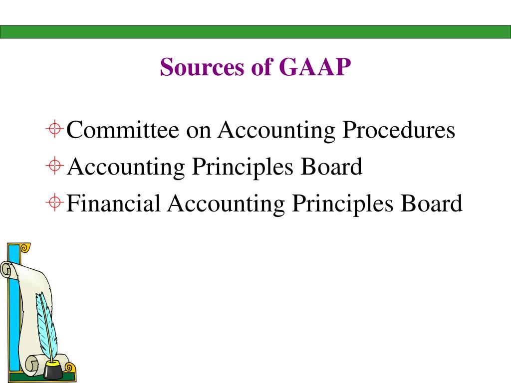 Sources of GAAP