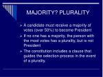 majority plurality