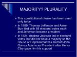 majority plurality10