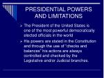 presidential powers and limitations