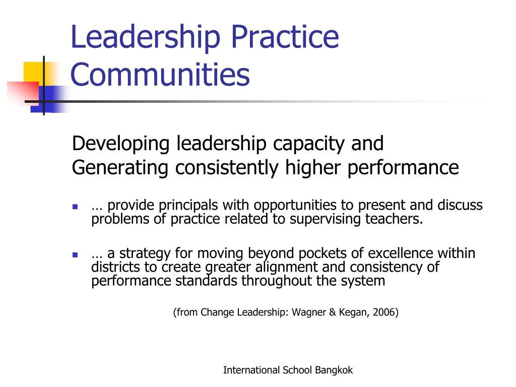 Leadership Practice Communities
