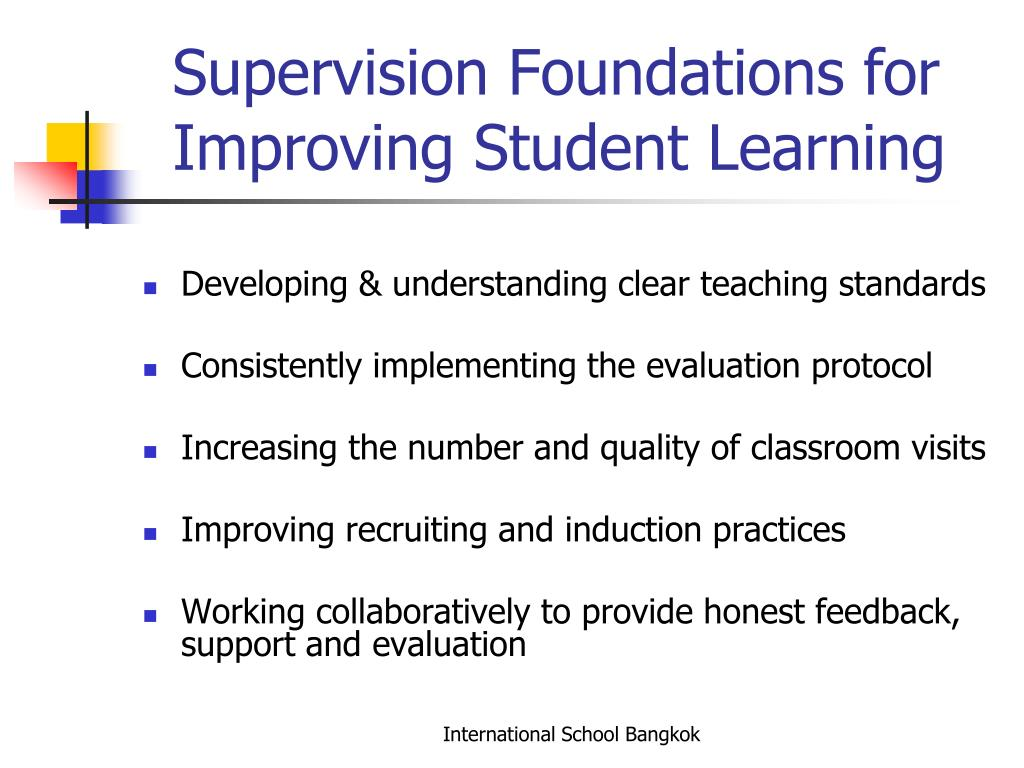 Supervision Foundations for