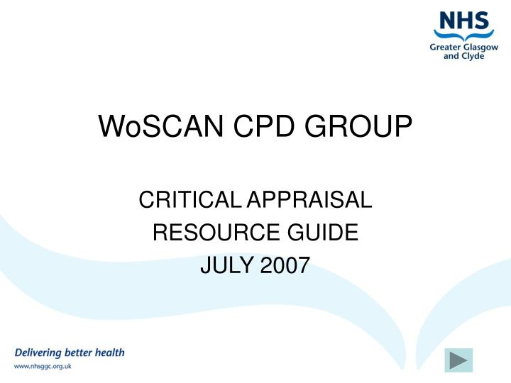 Woscan cpd group