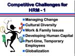 competitive challenges for hrm 1