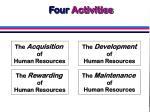 four activities