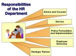 responsibilities of the hr department