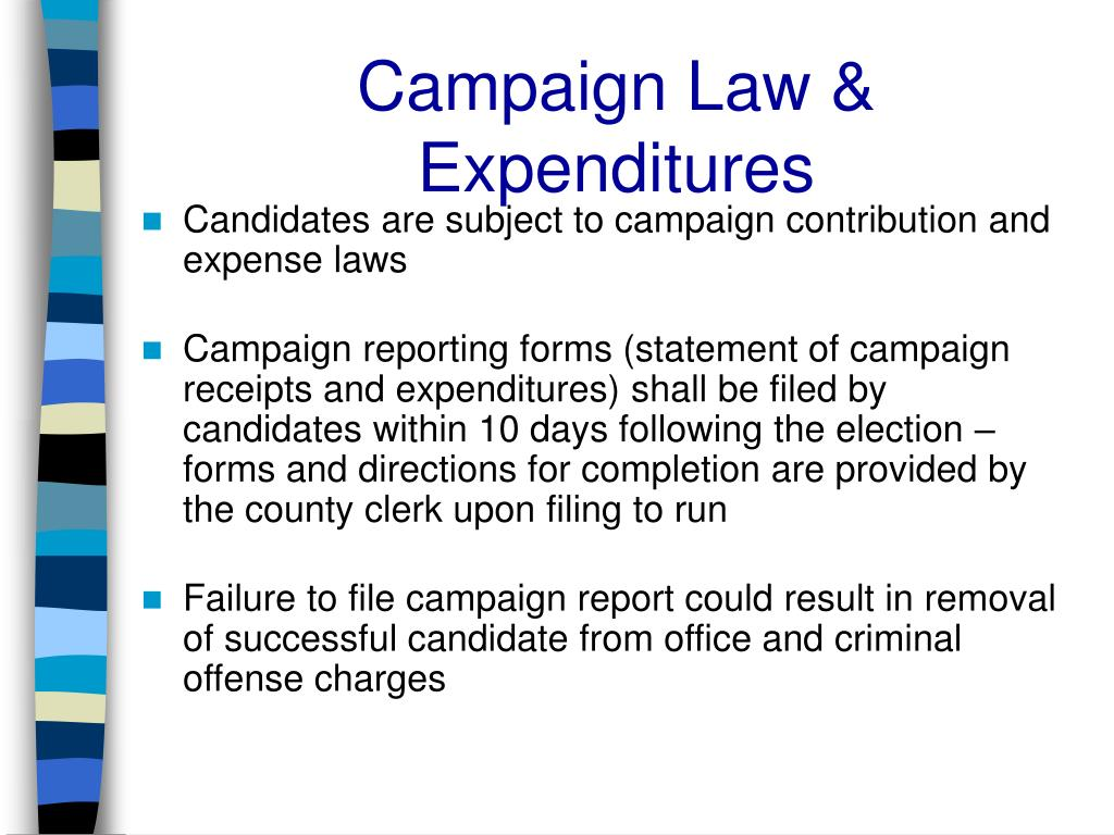Campaign Law & Expenditures