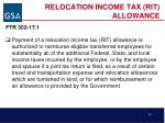 relocation income tax rit allowance