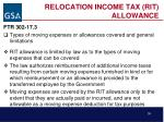 relocation income tax rit allowance38
