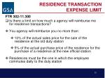 residence transaction expense limit