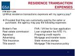 residence transaction expenses
