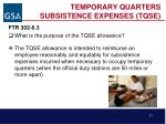 temporary quarters subsistence expenses tqse