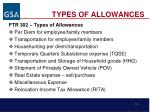 types of allowances11