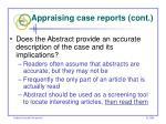 appraising case reports cont51