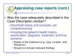 appraising case reports cont55