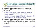 appraising case reports cont60