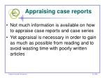 appraising case reports