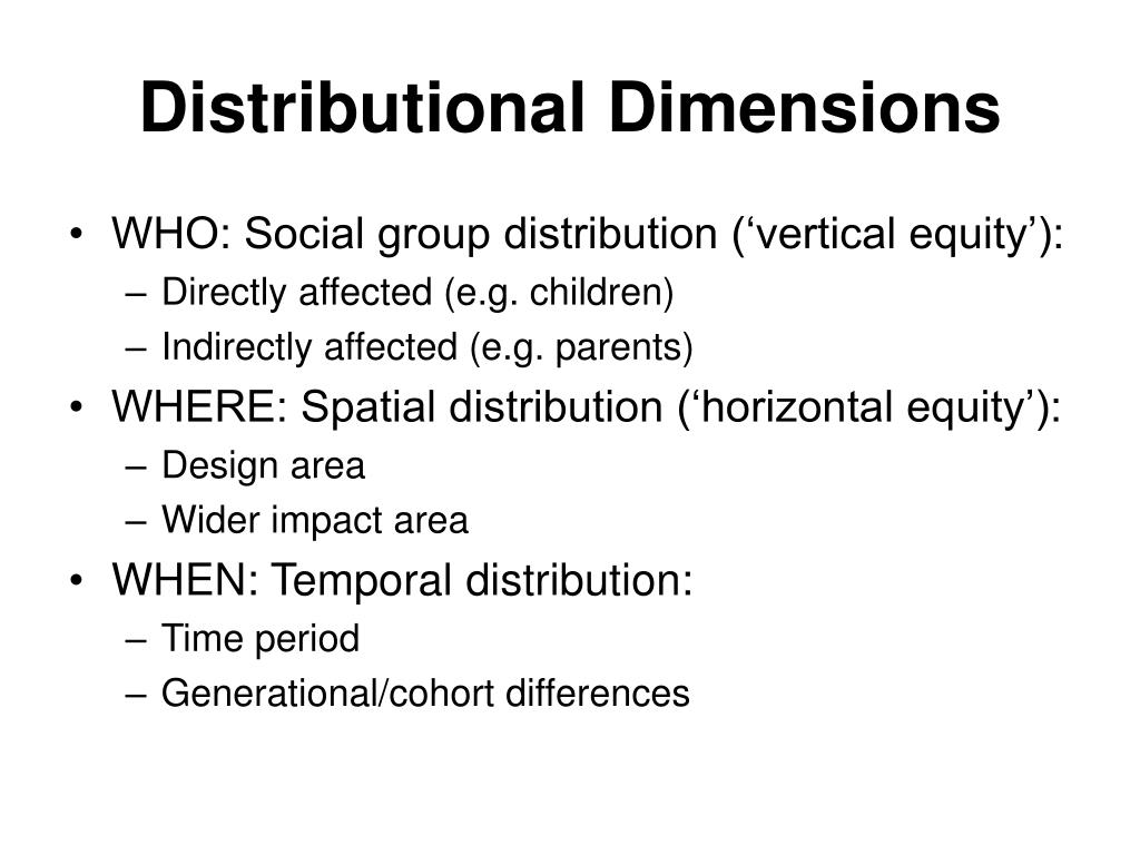 Distributional Dimensions