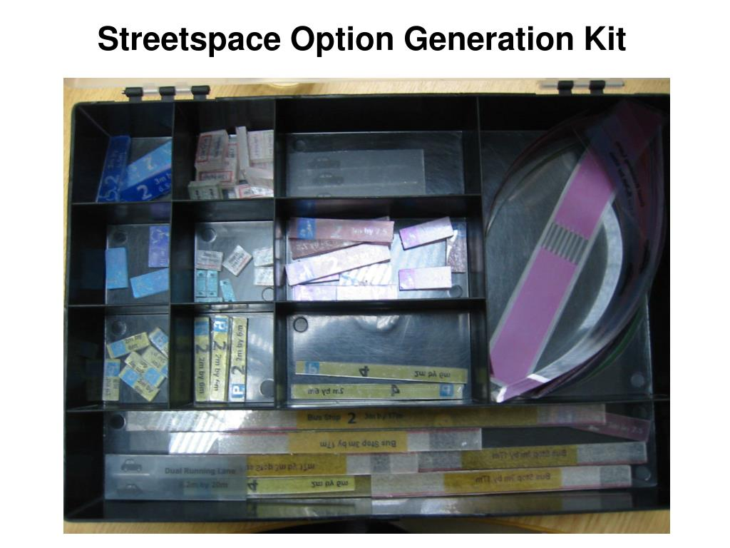 Streetspace Option Generation Kit