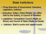 state institutions