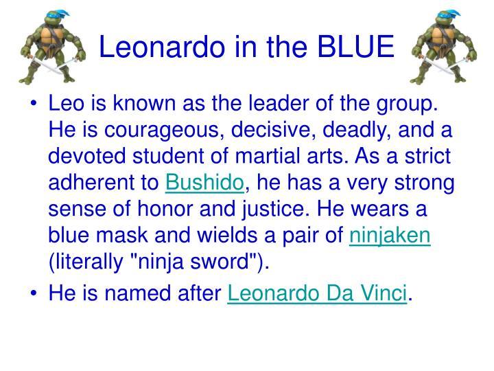 Leonardo in the blue