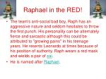 raphael in the red