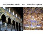 scenes from genesis and the last judgment
