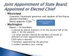 joint appointment of state board appointed or elected chief