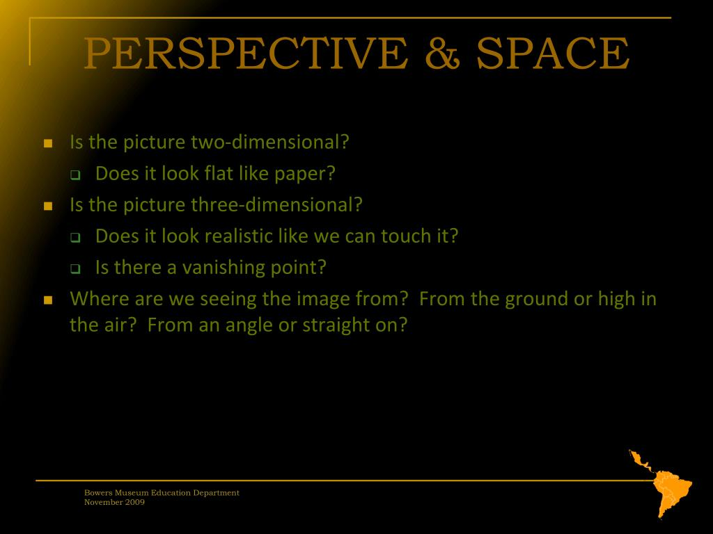 PERSPECTIVE & SPACE