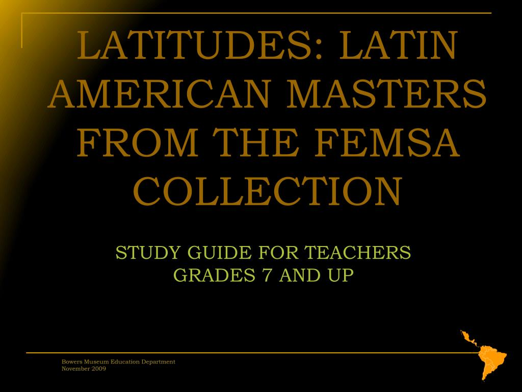 STUDY GUIDE FOR TEACHERS GRADES 7 AND UP
