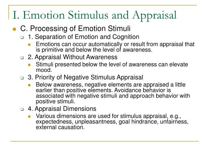 I emotion stimulus and appraisal3