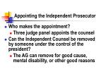 appointing the independent prosecutor