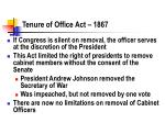 tenure of office act 1867