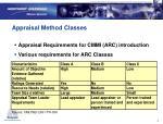 appraisal method classes